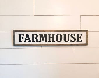 Farmhouse Sign, Wood Sign, Framed Wood Sign, Fixer Upper Style