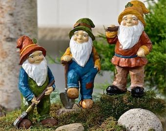 garden gnome. Garden Gnome - Springtime Gardening Statue Housewarming Gift New Home Decor