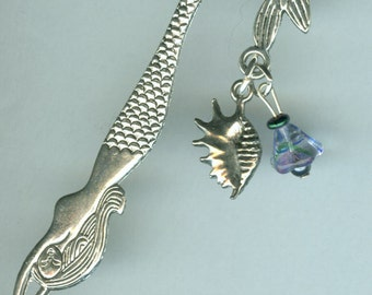 Mermaid Book Mark - Shell and Flower