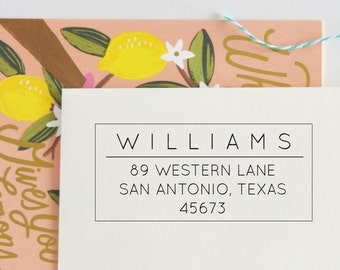 Classic Return Address Stamp | Custom Address Stamp | Custom rubber stamp | Snail Mail | Return Address Labels | Address Labels, No 61