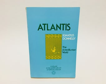 Vintage Non-Fiction Book Atlantis by Ignatius Donnely 1971 Softcover