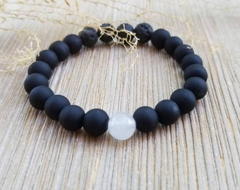Diffuser Bracelet Essential Oil Bracelet Essential Oil Diffuser Bracelet Diffuser Bracelet Lava Stone Bracelet Black Bracelet