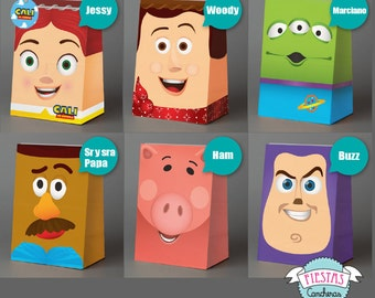 Printable Toy Story full paper bag KIT