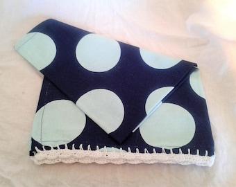 Tea Towel - Blue dots