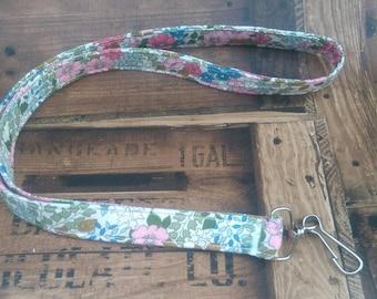 Lanyard - Lanyard for Keys - Floral Lanyard - Flower Lanyard - Lanyard for Her -  Key Holder - ID Holder  - Breakaway Lanyard - Key Fob