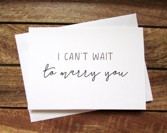 I Can't Wait to Marry You   To My Groom on Our Wedding Day Card   To my Bride on Our Wedding Day Card   Folded A6 Card & Envelope