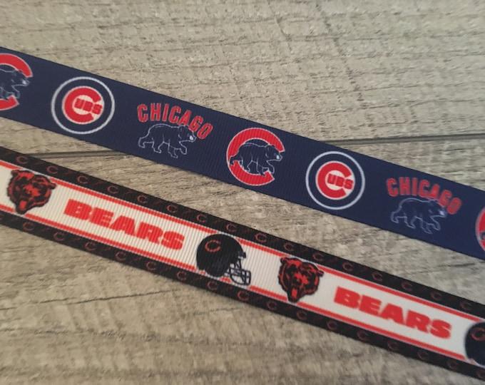 "The Bears - Designer 1"" Dog Collar | CupcakePups Dog Collars | Chicago Bears | Football"