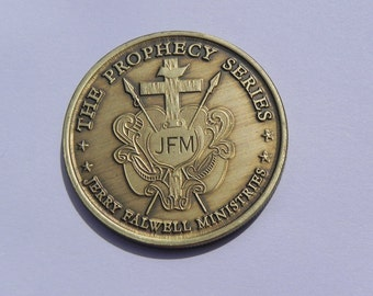 Vintage Commemorative Bronze Coin Jerry Falwell Ministries Prophecy Series
