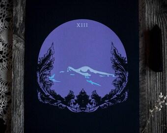 """XIII • 10x11"""" Screen print by Amalia Kouvalis"""