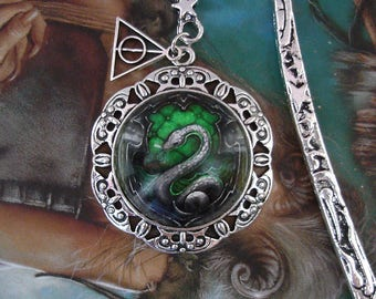 Slytherin - Bookmark - Snake  - Harry Potter - Salazar Slytherin - Severus Snape - Malefoy - Hogwarts - School of Witchcraft and Wizardry