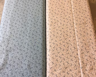 Makower uk pattern 8513 in light blue and cream by the half metre