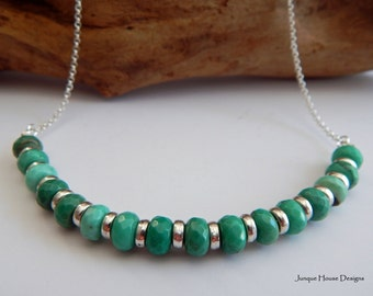 Simply Natural Turquoise Curved Necklace