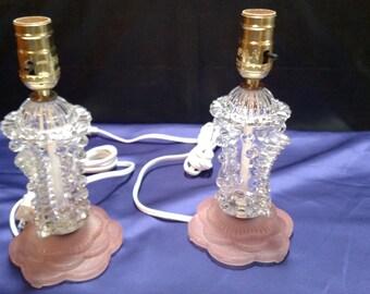 Art Deco boudoir lamps