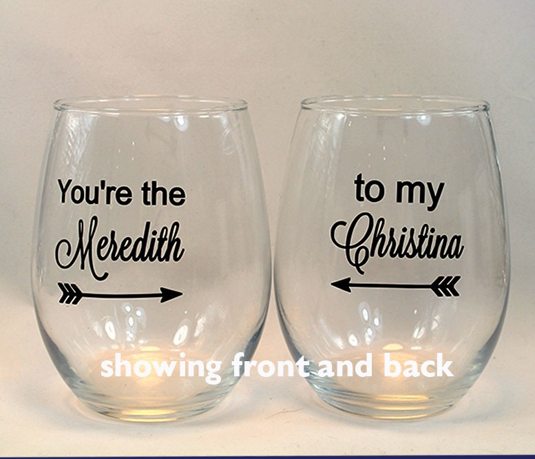 Greys Anatomy Wine Glass You\'re the Meredith to my