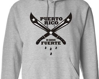 Puerto Rico de Sangre Fuerte Hoodie