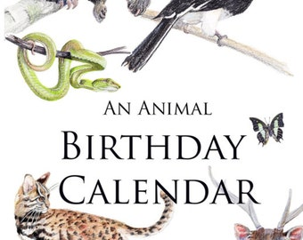 An Animal Birthday Calendar - Large