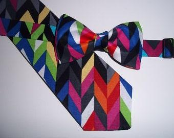 Colorful Tie-Boy's Pre-Tied Tie-Boy's Necktie-Colorful-Boy's Neck Tie-Awesome Colors-Geometric Print