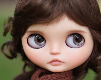 """10-11"""" BEAUTIFUL Short Jessica Brown doll WIG for Blythe and Neo Blythe Custom American Girl"""