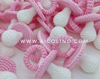 Lot 20 pacifiers crochet blue sky