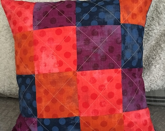 Homemade Quilted patchwork cushion cover