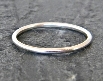Silver Thumb Ring - Thin Stacking Ring - Dainty Silver Ring - Sterling Silver Stacking Ring - Ring for Her - Little Ring