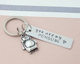 You're my penguin keyring, husband gift, girlfriend gift, boyfriend gift, friend gift, couples gift, penguin keyring, personalised keyring