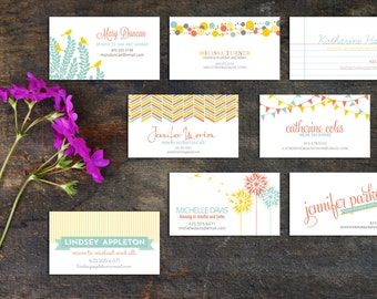 Mommy Calling Cards, Set of 50 or 100 cards, Calling Cards for Moms and Dads, Share Info with Children's Friends Parents, Choose Design