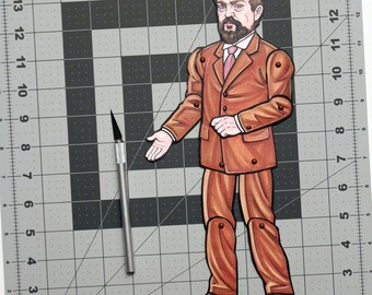Claude Debussy Articulated Paper Doll