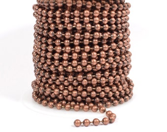 4.5mm Ball Chain - Antique Copper - CH98-AC - Choose Your Length