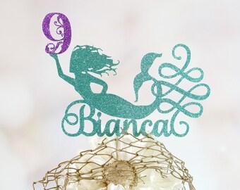 Mermaid cake topper Etsy