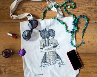 tote bag THE TWO FRIENDS