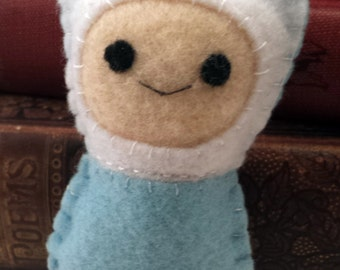 Finn the Boy Adventure Time plushie (made to order)