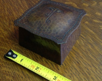 Roycroft Hammered Copper Inkwell