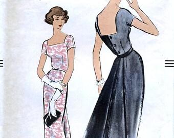 Vogue 9341 Vintage 50s Sewing Pattern for Misses' Dress - Size 12 - Bust 32