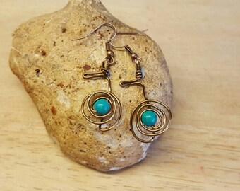 Cho ku rei Turquoise earrings. Reiki jewelry uk. December Birthstone