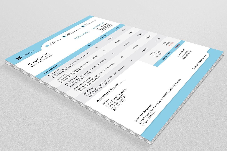 Factura multipropósito Factura plantilla factura de negocio