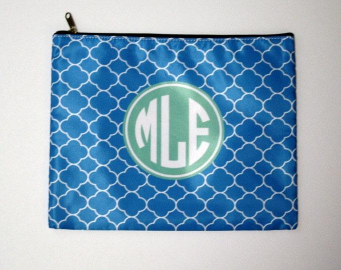Monogrammed Makeup bag - Mix and Match Design