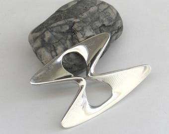 georg jensen   ...   mid century modern sterling silver pin  ...  abstract  ...   modernist vintage brooch