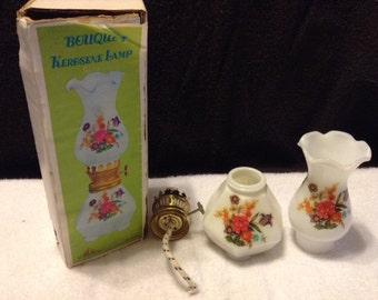 Vintage Glass Kerosene Lamp