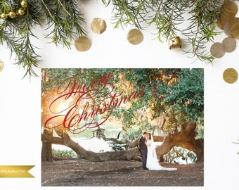 Classic Christmas Card - Classic and Simple Holiday card - Printable or Printed