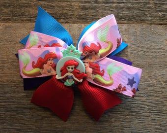 Little Mermaid Ariel Hair Bow