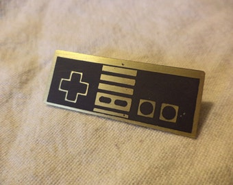 Etched Brass Nintendo Pin