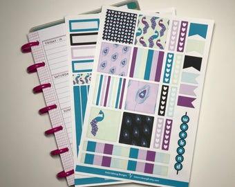 Peacock Mini Happy Planner Kit - Collection - Planner Stickers - Erin Condren - Happy Planner