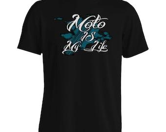 Moto is My Life Motorcycle Men's T-Shirt aa204m