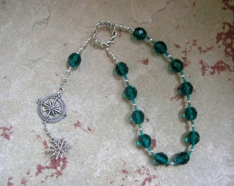 Boreas Pocket Prayer Beads: Greek God of the North Wind, God of Winter