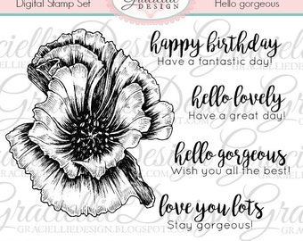 Hello Gorgeous - Digital Stamp Set