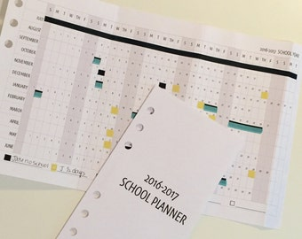 2018-2019 Back To School Planner Kit / Personal Size Planner Inserts