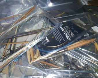 Over 100 Knitting Needles sizes 1-15, 19 All Different Lengths and Name Brands