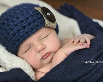 newborn boy hat, newborn hat, baby boy hat, boys winter hat, crochet boys hat, little boys hat, baby boy hat, baby boy winter hat, baby hat