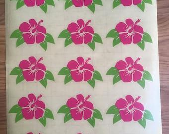 Hibiscus Flower Vinyl Decal